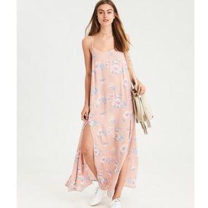 AE Flowy Floral Double Slit Maxi Dress